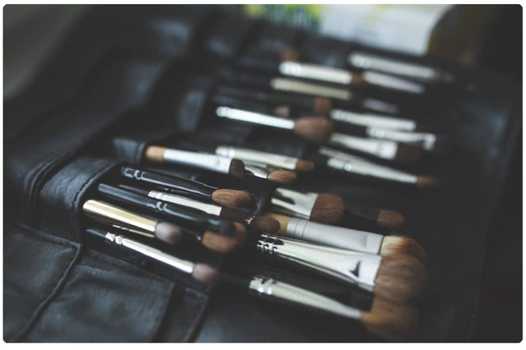 brocha de maquillaje de pelo natural